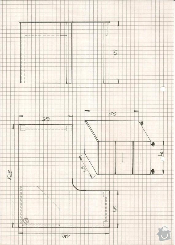Kontejner s šuplíky pod pracovní desku - kopie dle původní zakázky: Nydlova