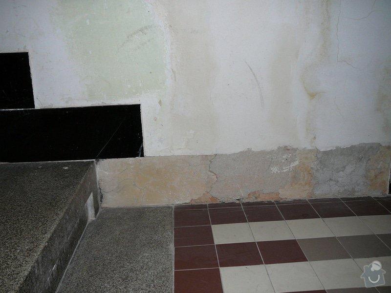 Oprava dlažby kolem schodů na chodbě v bytovém domě: P1080985