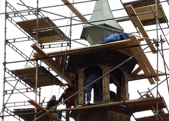 Oplechovani vezicky kostela, cca 20 m2