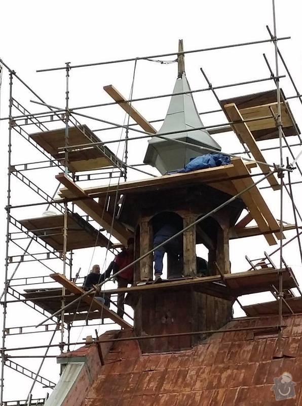 Oplechovani vezicky kostela, cca 20 m2: rekonstrukce_veze_