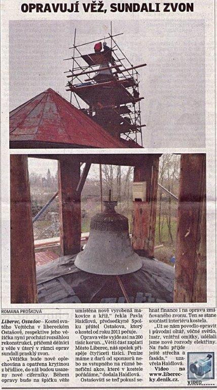 Oplechovani vezicky kostela, cca 20 m2: clanek_oprava_kostela_