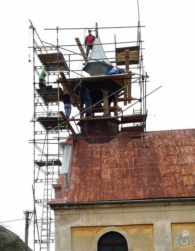 Oplechovani vezicky kostela, cca 20 m2: rekonstrukce_veze