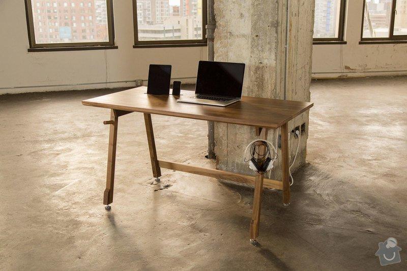 Pracovni stul masiv: Artifox_Desk01_Walnut_NDE