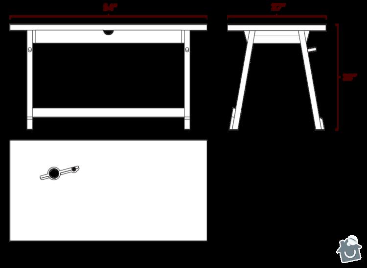 Pracovni stul masiv: Artifox_Desk01_Specs