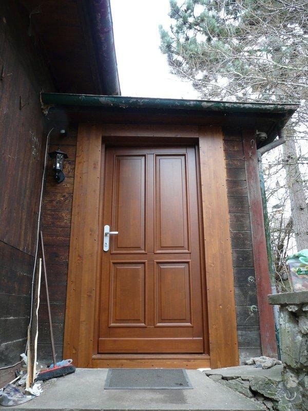 Dodávka a montáž vchodových dveří vč.zárubně-RD Všeradice: P1210612