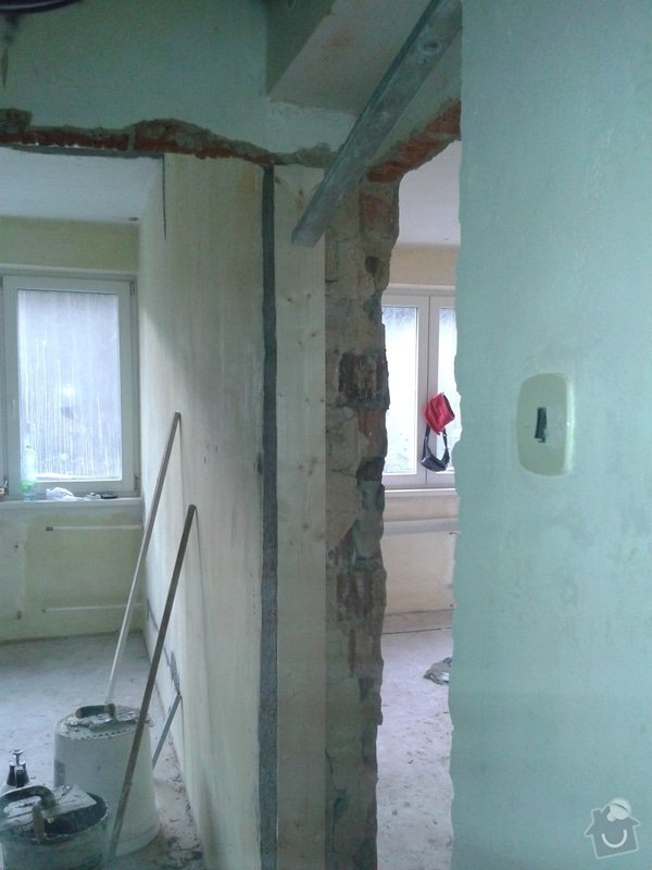 Kompletní nové omítky ,  2 pokoje: 20141208_141750