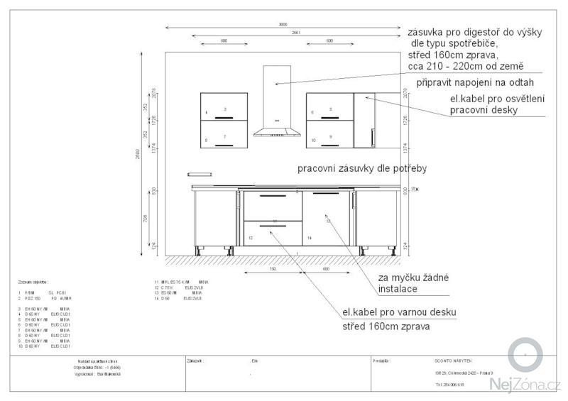 Příprava pro montáž kuchyňské linky: instal.1