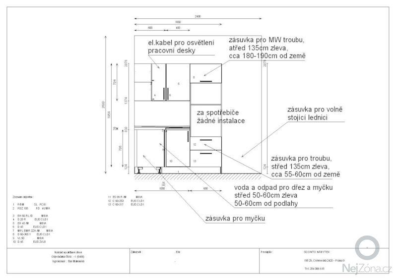 Příprava pro montáž kuchyňské linky: instal.2