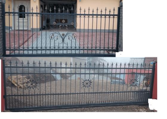 Kovové výplně plotu, vrata, branka
