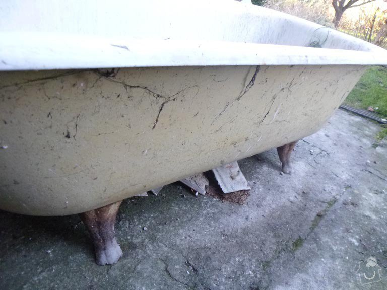 Renovace litinove vany: P1050552