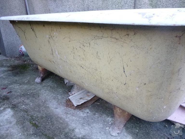 Renovace litinove vany: P1050547