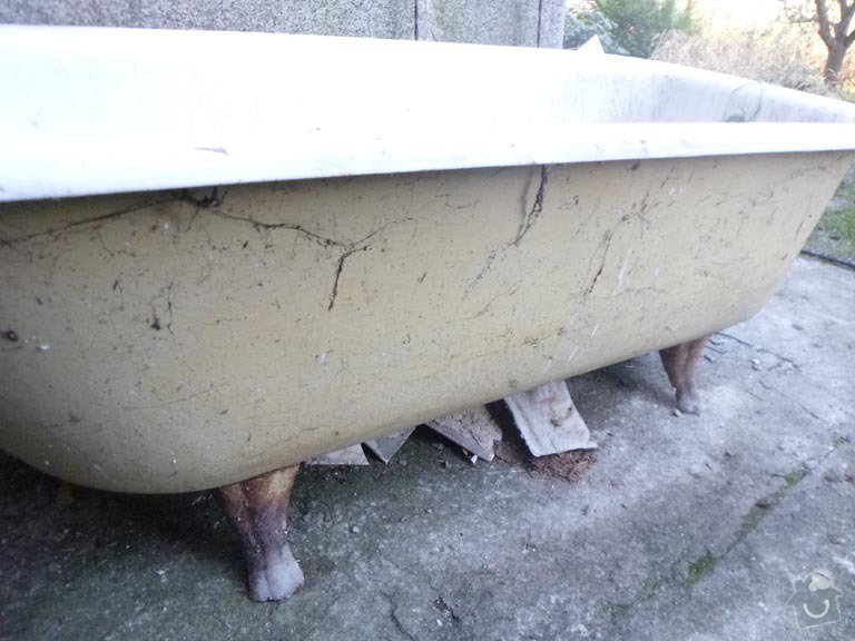 Renovace litinove vany: P1050551