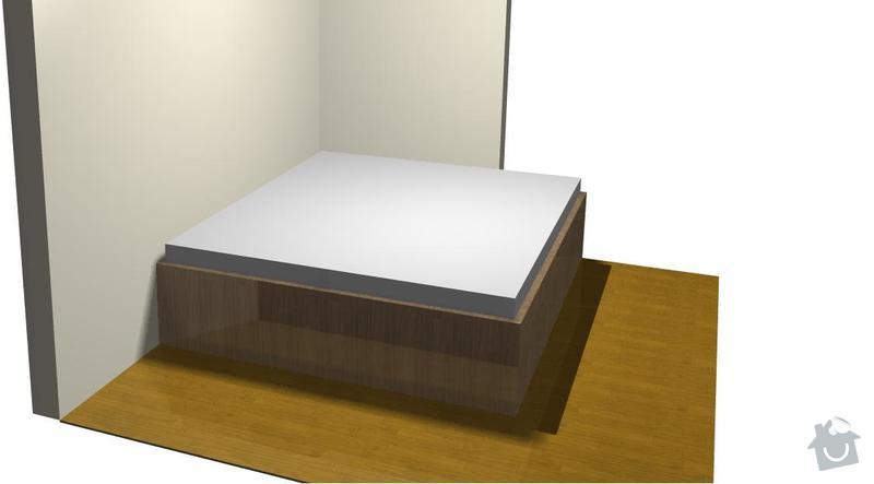 Vestavena skrin, postel, botnik: Janebova_postel
