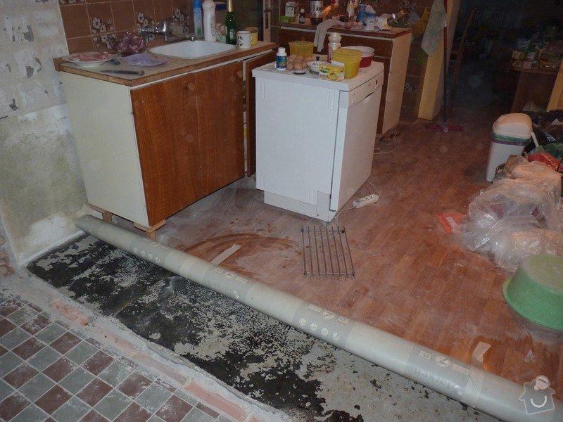 Rekonstrukci a vyrovnání betonové podlahy v kuchyni - přibližně 5,25 x 3,30 m: P1170678