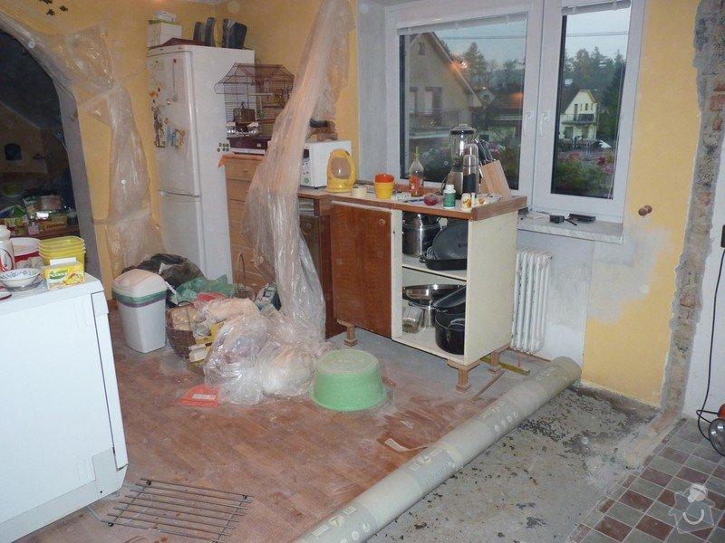 Rekonstrukci a vyrovnání betonové podlahy v kuchyni - přibližně 5,25 x 3,30 m: P1170679