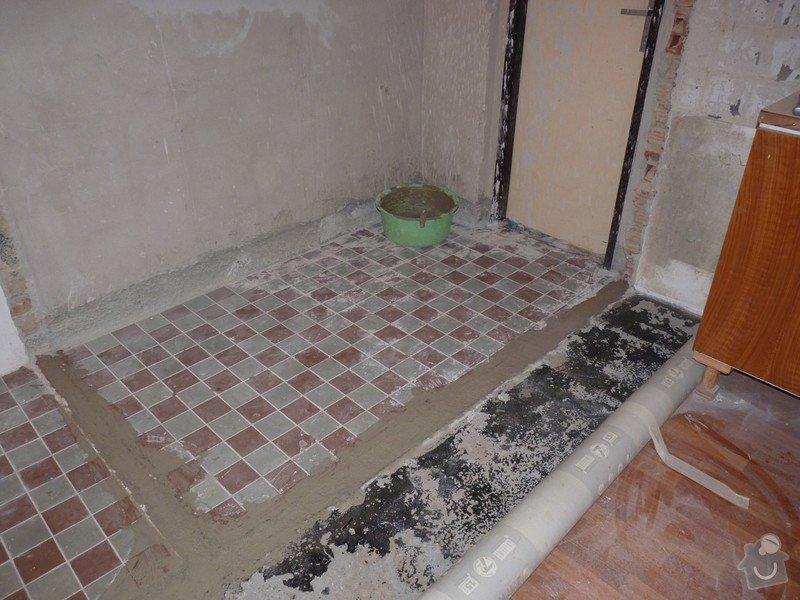 Rekonstrukci a vyrovnání betonové podlahy v kuchyni - přibližně 5,25 x 3,30 m: P1170682