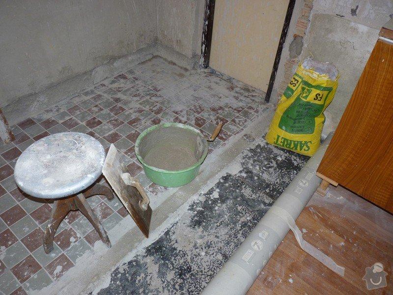 Rekonstrukci a vyrovnání betonové podlahy v kuchyni - přibližně 5,25 x 3,30 m: P1170684