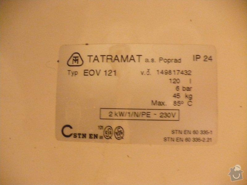 Výměna bojleru Tatramat EOV 121: P1110072
