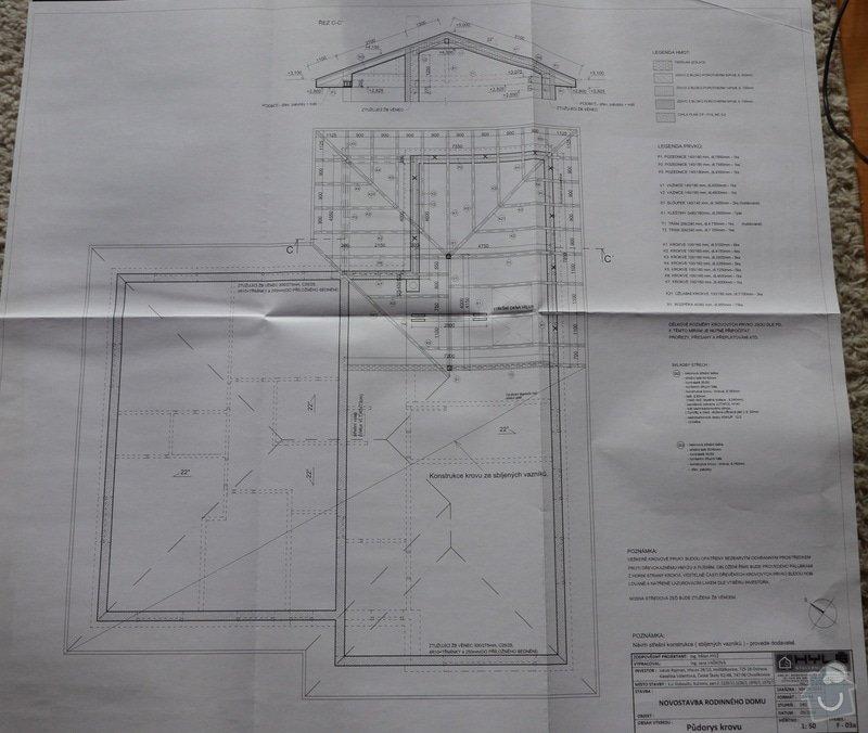 Realizace střechy na novostavbě: pudorys_krovu