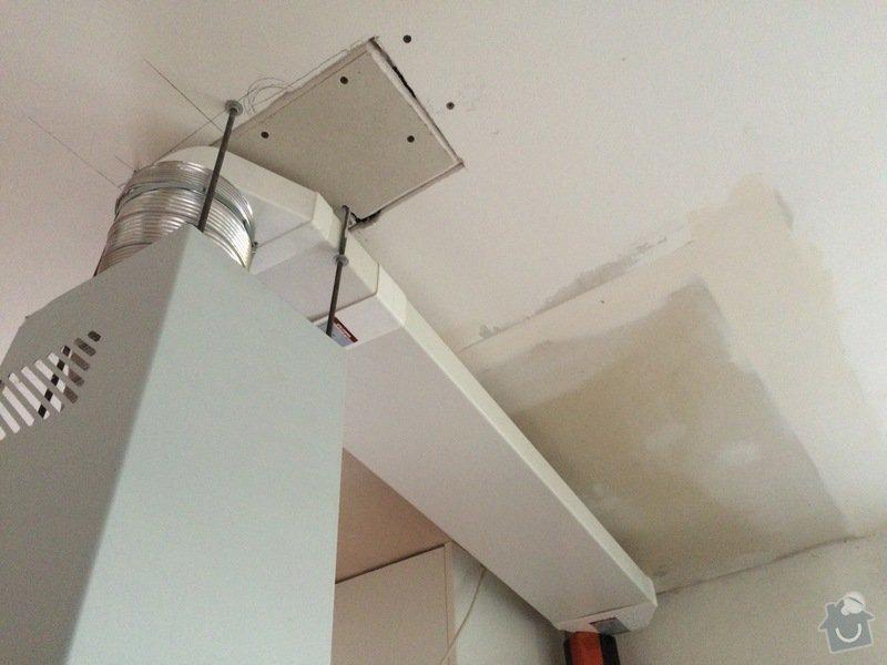 Oprava sádrokartonového podhledu v koupelně: kastlik