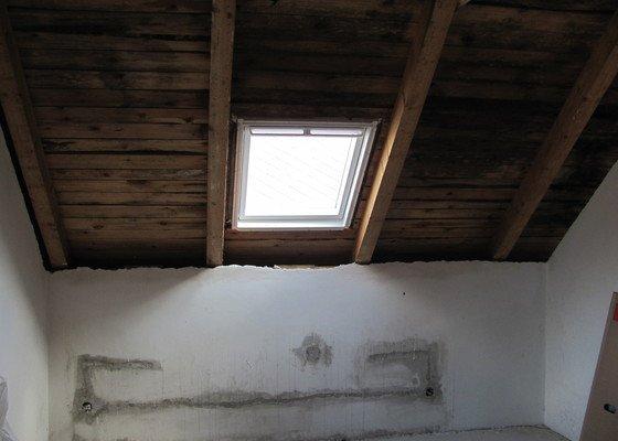 Montáž střešních oken, sádrokartony