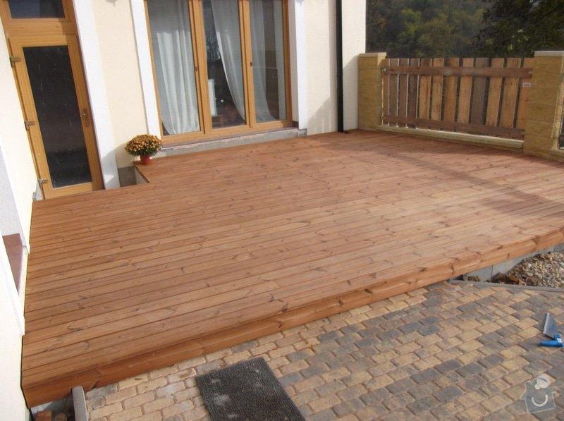 Realizace dřevěné venkovní terasy: 006