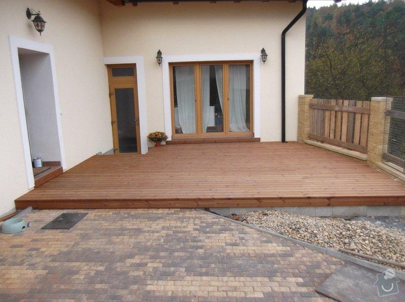 Realizace dřevěné venkovní terasy: 017