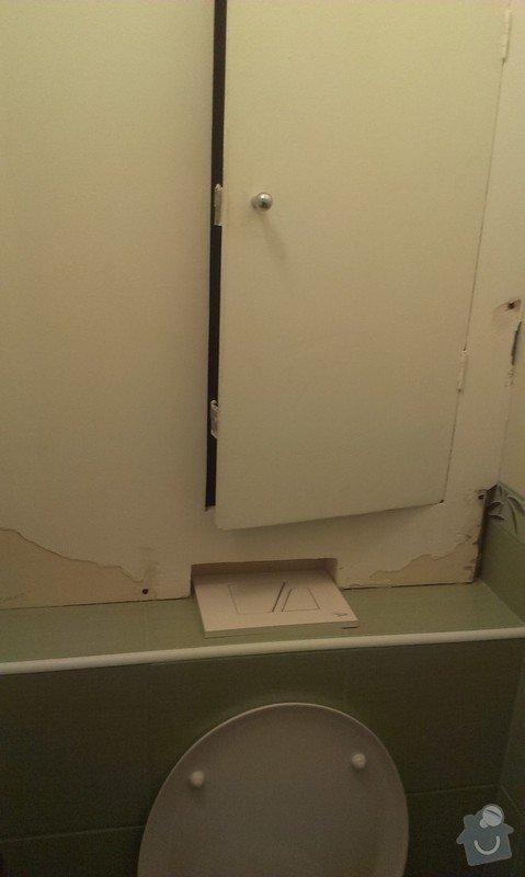 Zástěna stupaček na toaletě v paneláku: stupacky