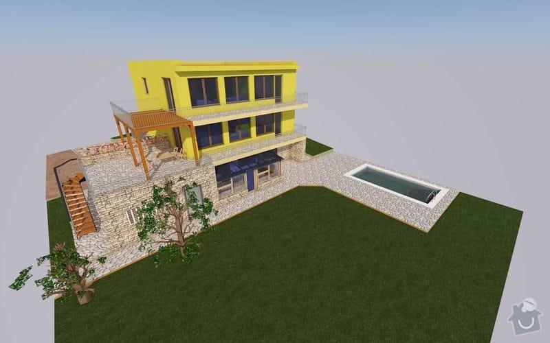 Dřevěná terasa - připojení ke stávajícímu balkonu: dum