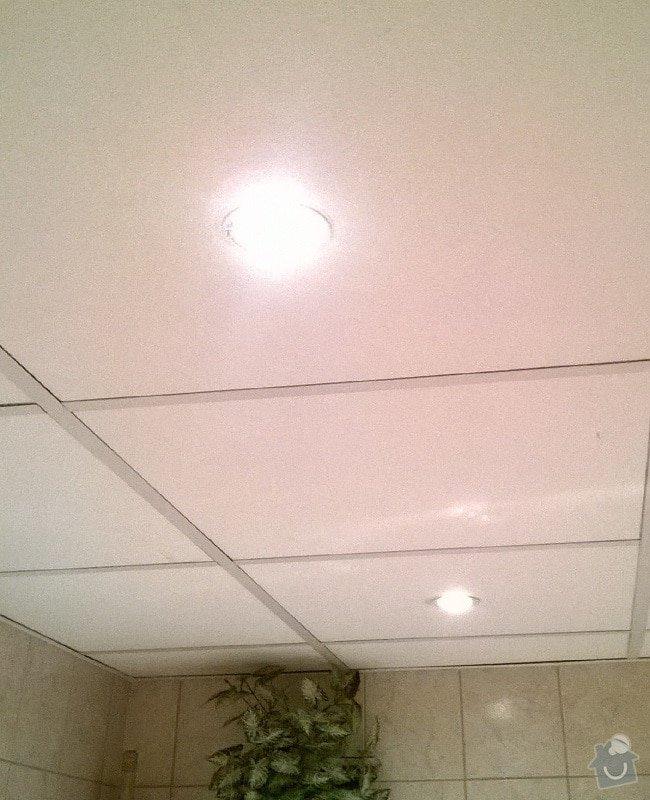 Elektrikáři, nová instalace bodovek v koupelně: led-podhled