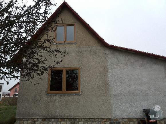 Zateplení obvodového pláště domu a podkroví: domek