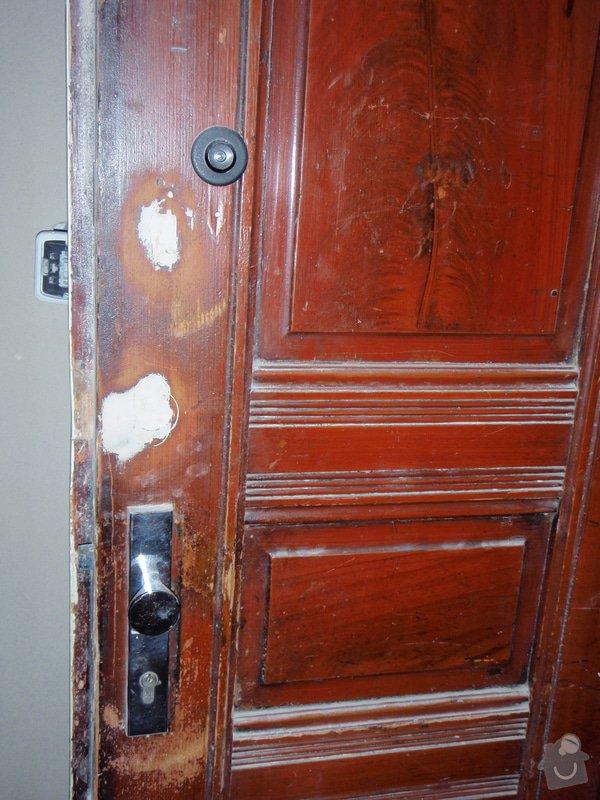 Renovace vstupních dvoukřídlých dveří: P1080129