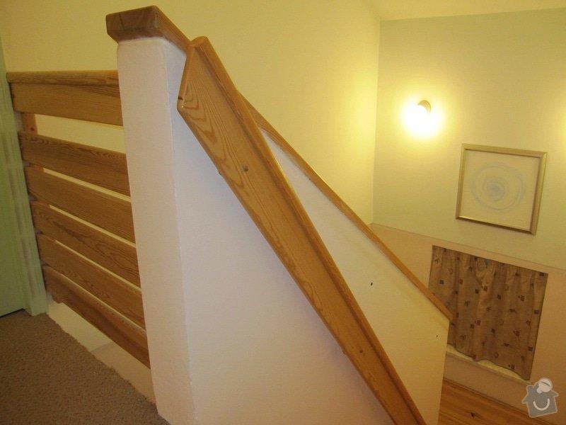 Oprava dřevěného schodišťového madla, oprava dveří: Schodistove_madlo_1