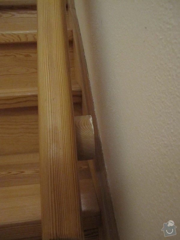 Oprava dřevěného schodišťového madla, oprava dveří: Schodistove_madlo_3