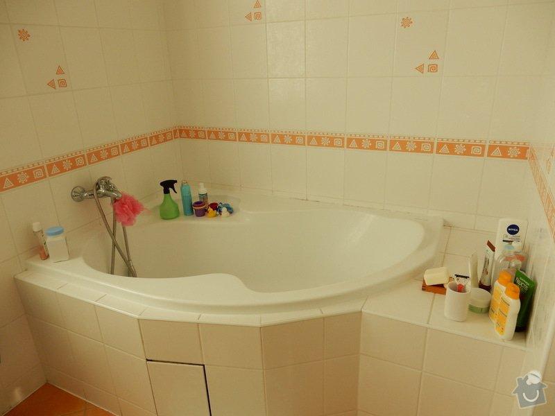Oprava plesnivych spar v koupelne: vana