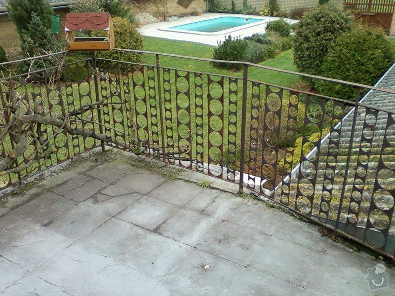 Venkovní balkonové zábradlí.: Fotografie-0099