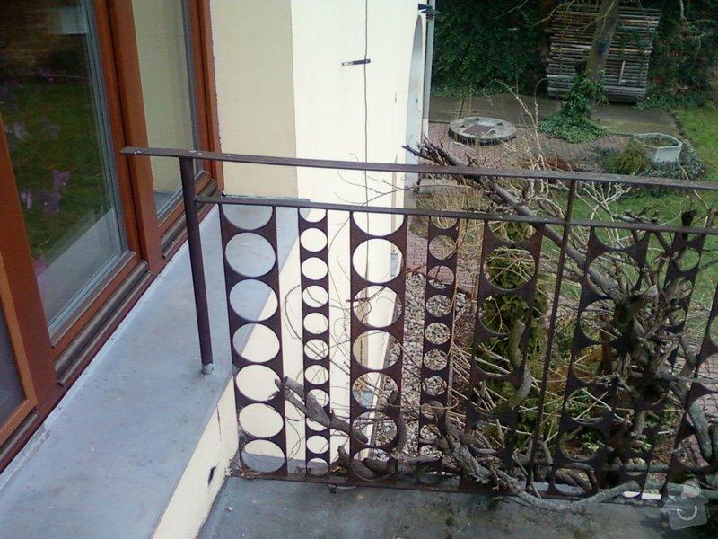 Venkovní balkonové zábradlí.: Fotografie-0101