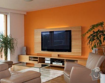 Televizní stěna + konferenční stolek: Televizni_stena