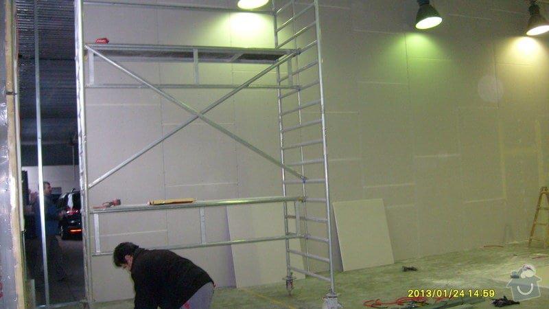 Stavba sádrokartonové příčky: S6301984