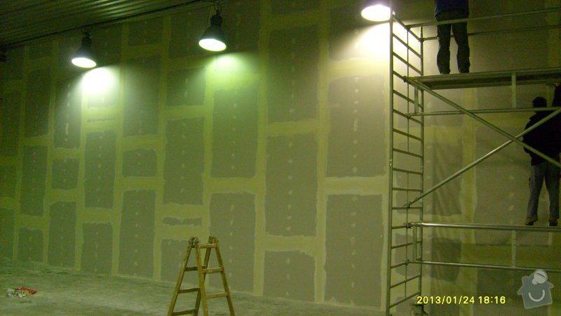 Stavba sádrokartonové příčky: S6301989