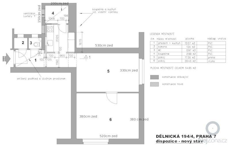 Sdk podhledy, obklady v koupelne: byt_-_delnicka_2_-_mistnosti