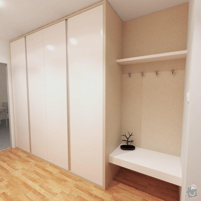 Obývací pokoj a chodba- návrh a vizualizace: Chodba_1