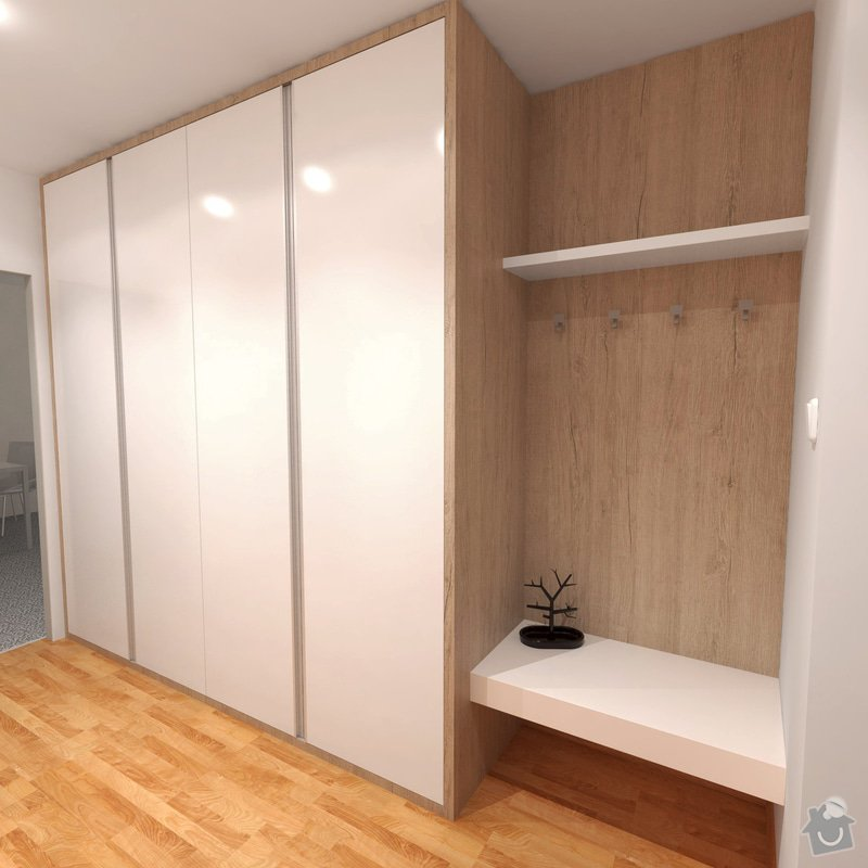 Obývací pokoj a chodba- návrh a vizualizace: Chodba_2