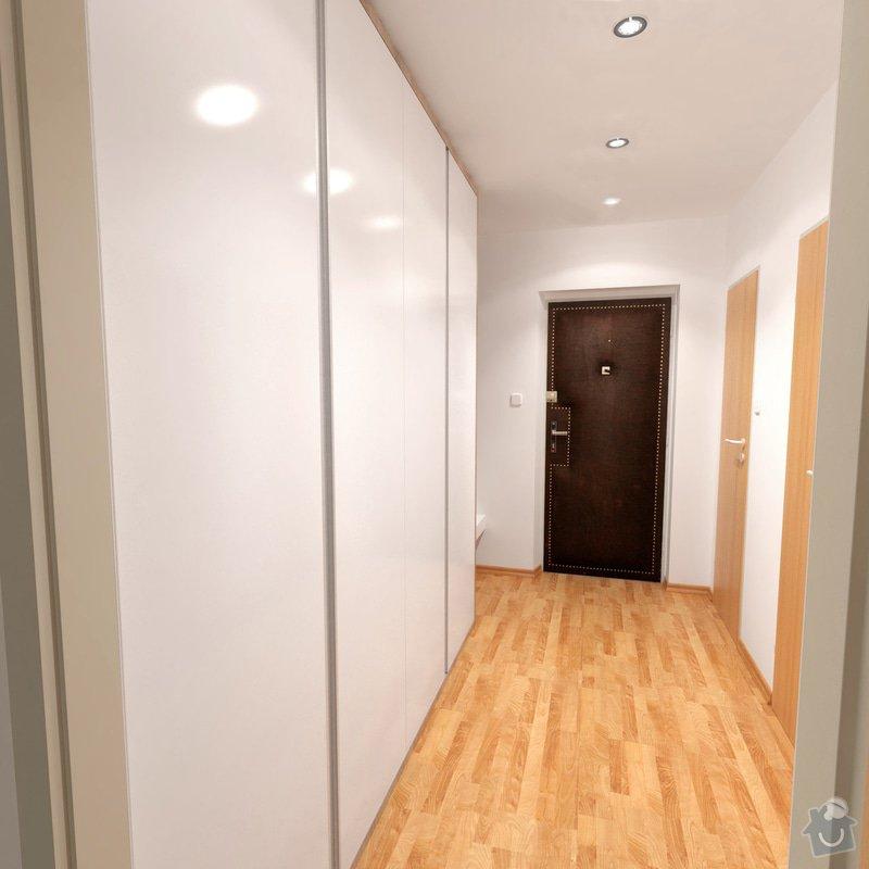 Obývací pokoj a chodba- návrh a vizualizace: Chodba_4