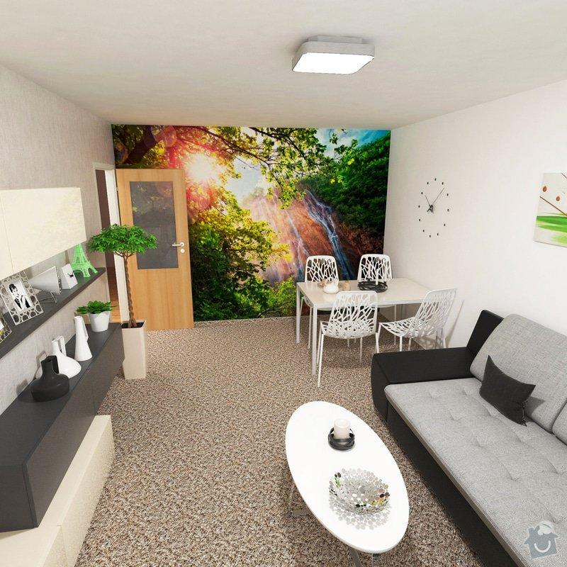 Obývací pokoj a chodba- návrh a vizualizace: obyvaci_pokoj_uprava_zidli