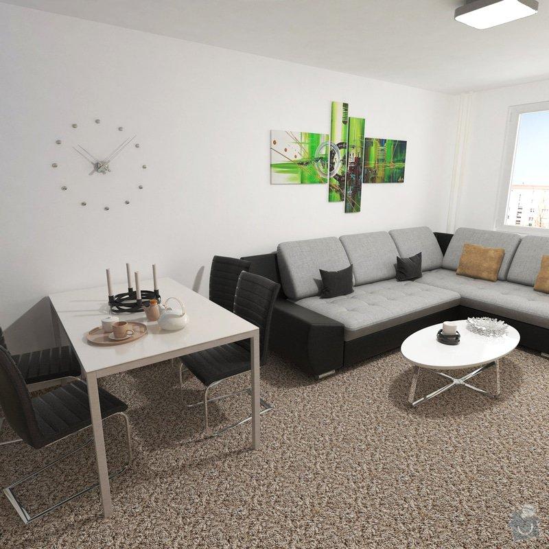 Obývací pokoj a chodba- návrh a vizualizace: Obyvaci_pokoj_3