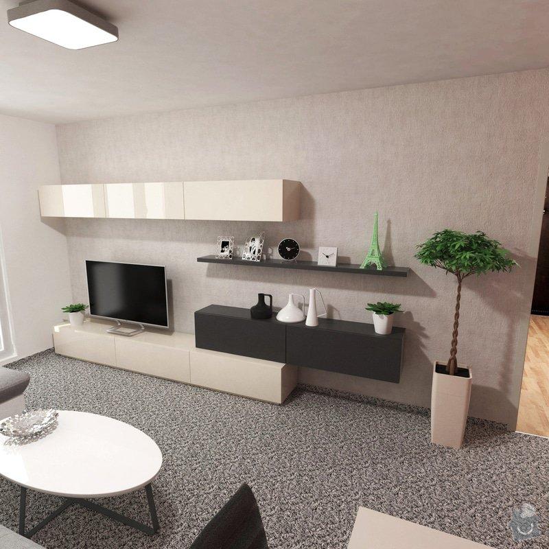 Obývací pokoj a chodba- návrh a vizualizace: Obyvaci_pokoj_1