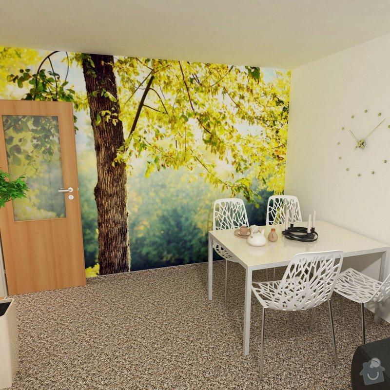 Obývací pokoj a chodba- návrh a vizualizace: fototapeta_2_