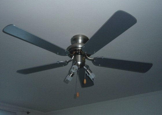 Demontáž / montáž vodovodnej batérie + Montáž stropného ventilátora so svetlom
