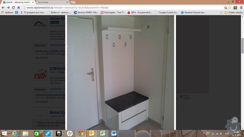 Botník s věšákem a skříňka pod umyvadlo: botnik_2